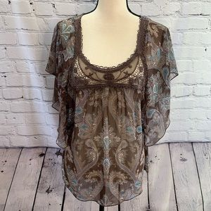 Maurice's | sheer boho blouse